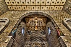 L'église de St Peter à l'intérieur Ville de Gramado, Rio Grande do Sul - Brésil Image libre de droits