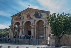 L'église de toutes les nations, ou église ou basilique de l'agonie image libre de droits