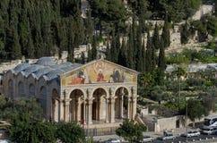 L'église de toutes les nations, église ou basilique de l'agonie images libres de droits