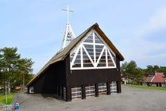 L'église de Vierge Marie bénie dans Nida, Lithuanie Photo libre de droits