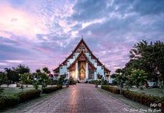 L'église de Wat Phra Si Sanphet Images libres de droits
