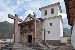 L'église du Peter-apôtre de saint d'Andahuaylillas images libres de droits