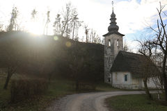 L'église du saint Lenart Photos stock