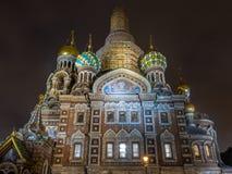 L'église du sauveur sur le sang renversé, Russie photos stock
