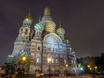 L'église du sauveur sur le sang renversé, Russie photographie stock libre de droits