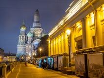 L'église du sauveur sur le sang renversé, Russie photos libres de droits