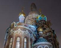 L'église du sauveur sur le sang renversé, Russie image stock