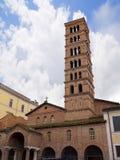 L'église du site de Maria Cosmedin de Bocca del Veriti ou bouche de la vérité à Rome Italie Photo libre de droits