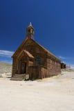 L'église est ville fantôme images libres de droits