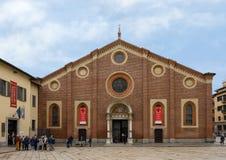 L'église et le couvent du delle Grazie, la maison du dernier dîner de Leonardo, Milan, Italie de Santa Maria photos libres de droits