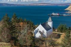 L'église gratuite d'Uig de l'Ecosse, île de Skye, Ecosse image stock