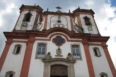 L'église Nossa Senhora font Carmo, Ouro Preto Images libres de droits