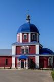 L'église orthodoxe dans la ville russe de la région de Meshchovsk Kaluga Images stock