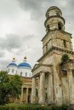 L'église orthodoxe dans la ville russe de la région de Meshchovsk Kaluga Image libre de droits