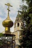 L'église orthodoxe dans la ville russe de la région de Meshchovsk Kaluga Image stock