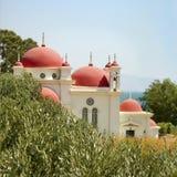 L'église orthodoxe grecque Images libres de droits