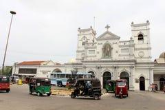 L'église ou le tombeau de St Anthony à Colombo, la situation AR photo libre de droits