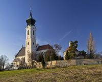 L'église paroissiale dans Mistelbach, Basse Autriche photographie stock