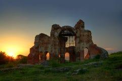 L'église rouge Photographie stock