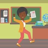 L'élève a reçu la meilleure marque Image libre de droits