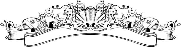 L'élément de vintage pour daignent du vin, du cognac, du champagne etc. illustration de vecteur