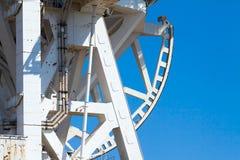 L'élément en métal d'un télescope électronique Image stock