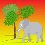 L'éléphant dans le sauvage, le style d'art de bruit, vecteur Image stock