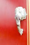 L'éléphant l'ivoire aucune tête une porte Images libres de droits