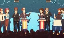 L'élection de la politique discute l'illustration de bande dessinée illustration libre de droits