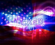 L'élection entaillant l'espionnage russe attaque l'illustration 3d illustration stock