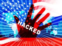 L'élection entaillant l'espionnage russe attaque l'illustration 3d illustration de vecteur
