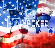 L'élection entaillant l'espionnage russe attaque l'illustration 3d illustration libre de droits