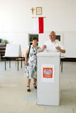 L'élection présidentielle de la Pologne - en second lieu en rond Image stock