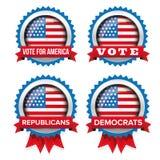 L'élection présidentielle des Etats-Unis a placé l'insigne de 2016 vecteurs illustration libre de droits