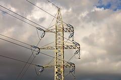 L'électricité à haute tension 3D Photos stock