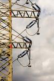 L'électricité à haute tension 3D Images libres de droits
