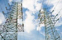 L'électricité à haute tension 3D Image stock