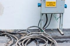 L'électricité à haute tension 3D Images stock