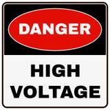 L'électricité à haute tension 3D Signe de danger Vecteur illustration de vecteur