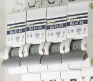 L'électricité électrique de disjoncteurs image libre de droits