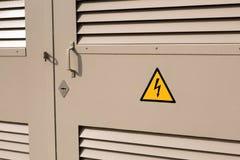 l'électricité boîte de transformateur Énergie Photographie stock