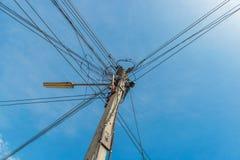 L'électricité de ligne électrique Photos stock