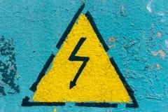 L'électricité de signe Photographie stock libre de droits