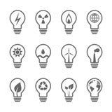 L'électricité et ensemble énergétique d'ampoule Photo stock