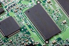 Panneau électronique d'unité de disque dur Image libre de droits