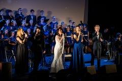 L'éloquence de Noël de multimédia - à Bethlehem a exécuté par le Filharmonia Futura et Fermata de choeur Cracovie poland photos libres de droits