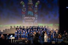 L'éloquence de Noël de multimédia - à Bethlehem a exécuté par le Filharmonia Futura et Fermata de choeur Cracovie poland images libres de droits