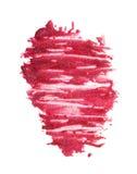 L'émail rose de vernis à ongles laisse tomber l'échantillon Image stock