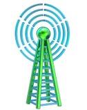 L'émetteur de Digital envoie des signaux de la haute tour Images libres de droits