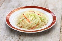 L'émoi a fait frire les pommes de terre déchiquetées, cuisine chinoise photos stock
